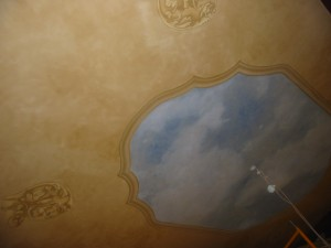 Ceiling with Trompe and faux